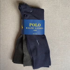 Polo Ralph Lauren 3 Pack Textured Crew Dress Socks
